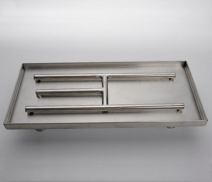 american fireglass rectangle pan burner - American Fireglass